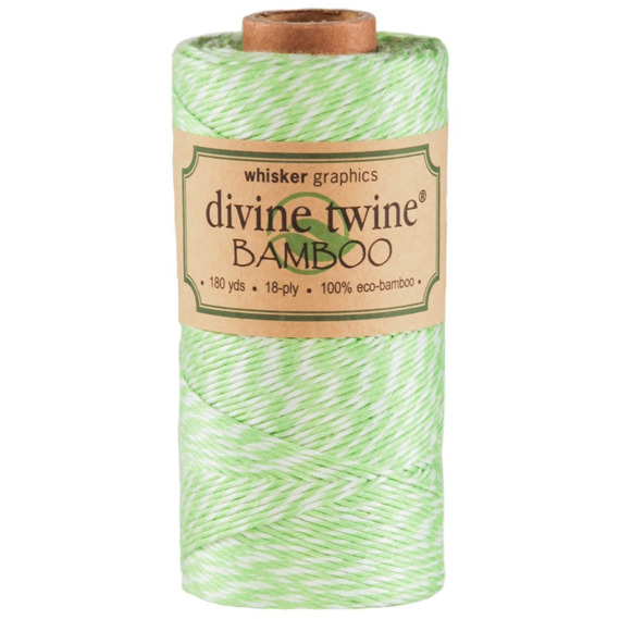 Sznurek Green Apple & White Eco-Bamboo Divine Twine - 1 m