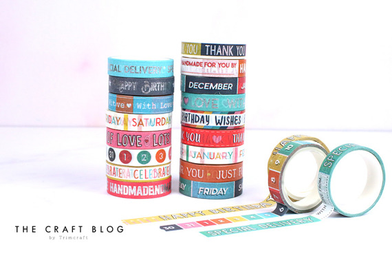 Taśma washi - Dovecraft - Sentiments 20szt
