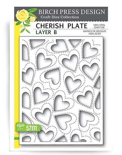 Wykrojnik - Birch Press Design - Cherish Plate B