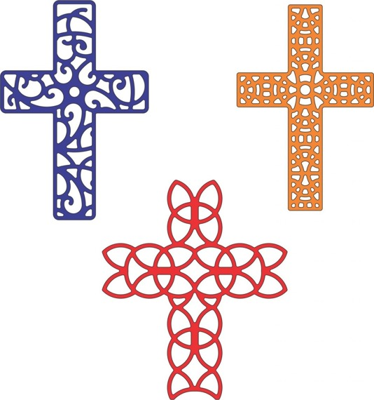 Wykrojnik - Cheery Lynn - Crosses Set of 3 - B207 - krzyże