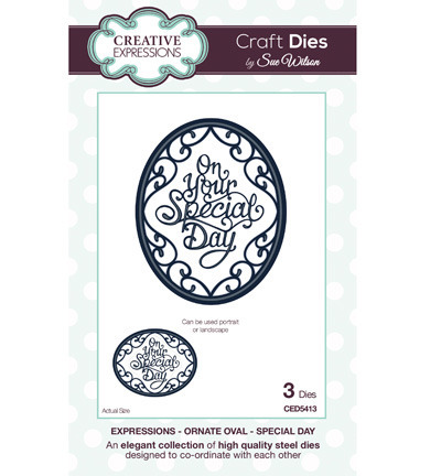 Wykrojnik -Creative Expressions - Ornate Oval - Special day CED5413
