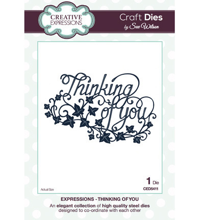 Wykrojnik - Creative Expressions - Thinking of You CED5411