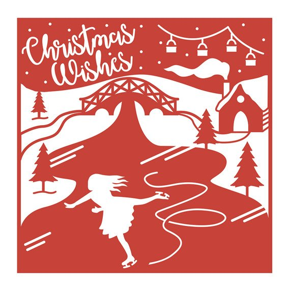 Wykrojnik - First Edition - 6x6 Christmas Wishes