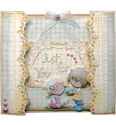 Wykrojnik - Marianne Design - Just for You LR0224 - napisy Just for You Thanks
