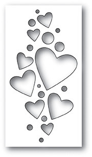 Wykrojnik - Poppystamps - Heart Confetti Collage