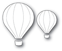 Wykrojnik - Poppystamps - Hot Air Balloons