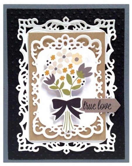 Wykrojniki - Spellbinders - Decorative Labels Eight SBS5-148 ramki