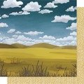 Papier 30x30 - American Crafts - Golden Rod - Waves of Grain