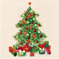 Serwetka 33x33cm - Christmas Tree - choinka