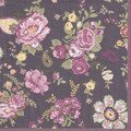 Serwetka 33x33cm -  Wallpaper with Roses Claret kwiaty