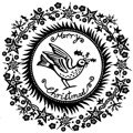 Stempel - Crafty Individuals - Christmas Holly Bird Merry Christmas
